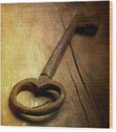 Key Wood Print by Bernard Jaubert