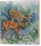 Key Deer Wood Print