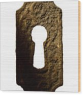 Key Hole Wood Print