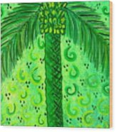 Key Lime Palm Wood Print