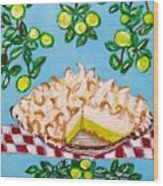 Key Lime Pie Mini Painting Wood Print