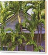 Key West Bungalow Wood Print