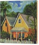 Key West Cottage Wood Print