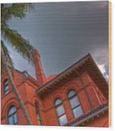 Key West Customs House Wood Print