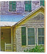 Key West Florida Clapboard Home Wood Print