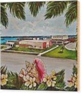 Key West High School From The 60's Era Wood Print
