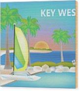 Key West Horizontal Scene Wood Print