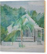 Key  West House Wood Print