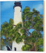 Key West Lighthouse Wood Print