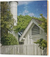 Key West Lighthouse Dsc01547_16 Wood Print