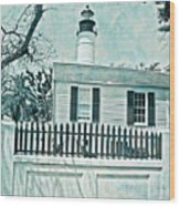 Key West Lighthouse Impression Wood Print