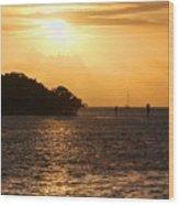 Key West Mangrove Sunrise Wood Print