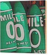Key West Mile Zero Wood Print