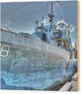 Key West Navy Ship Wood Print