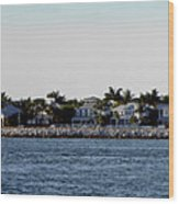 Key West Panorama Wood Print