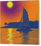 Key West Passion Wood Print