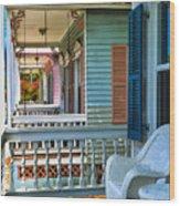 Key West Porches Wood Print