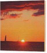 Key West Red Cloud Sunset Wood Print