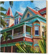 Key West Southern Most Hotel Wood Print by Bill Cannon
