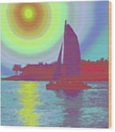 Key West Sun Wood Print