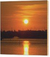 Key West Sunrise 36 Wood Print