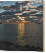 Key West Sunset 10 Wood Print