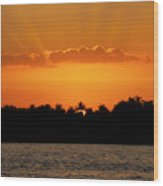 Key West Sunset 25 Wood Print