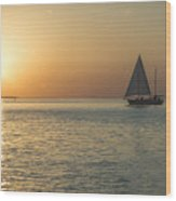 Key West Sunset Wood Print