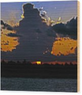Key West Sunset Glory Wood Print