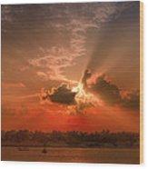 Key West Sunset Panoramic Wood Print