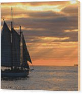 Key West Sunset Sail 6 Wood Print