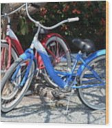 Key West Vintage Bicycles Wood Print