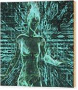 Keyed To The Matrix Wood Print