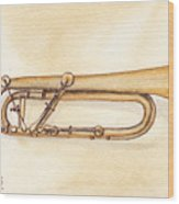 Keyed Trumpet Wood Print