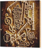 Keys Of A Symphonic Orchestra Wood Print