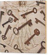 Keys On Artwoork Wood Print
