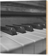 Keys To The Piano Wood Print