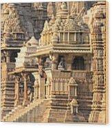 Khajuraho Temple, Chhatarpur District Wood Print