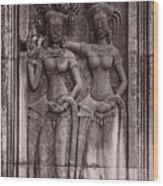 Khmer Court Dancers Wood Print