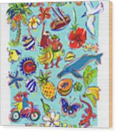 Kia Orana Cook Islands Wood Print