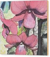 Kiahuna Orchids Wood Print
