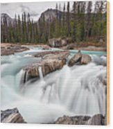 Kicking Horse River Cascades Wood Print