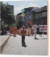 Kid On Parade Wood Print