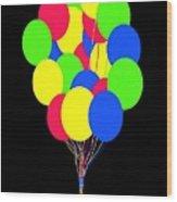 Kids Korner Balloons Wood Print