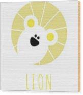 Kids Lion Poster Wood Print