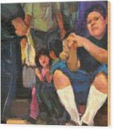 Kids on the Street Wood Print