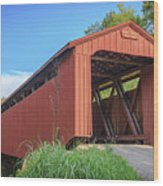 Kidwell Covered Bridge Wood Print