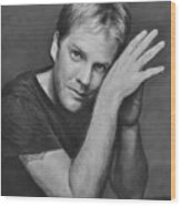 Kiefer Sutherland Wood Print
