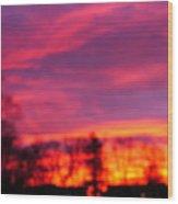 Kiera's Sunset Wood Print