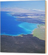 Kiholo Bay, Aerial View Wood Print